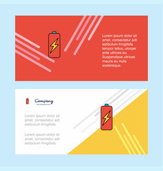 battery charging abstract corporate business vector image