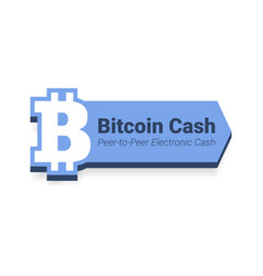 bitcoin cash flat icon with title isolated on vector image