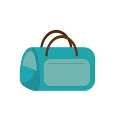 Blue bag carrier pet comfort vector