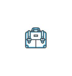briefcase icon line design business icon vector image