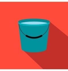 Bucket full of water flat icon vector