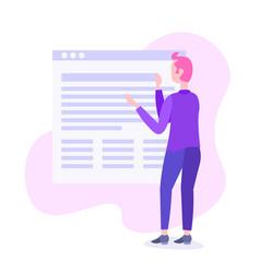 businessman change online application interface vector image