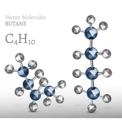 Butane Molecules SET vector image