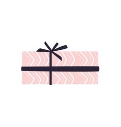 Cartoon present gift box ribbon bow vector