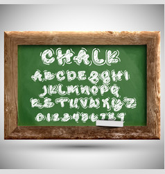 chalk typeset on a chalkboard vector image