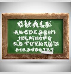 chalk typeset on a chalkboard vector image