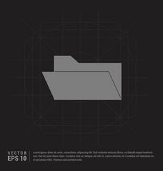 computer folder icon - black creative background vector image