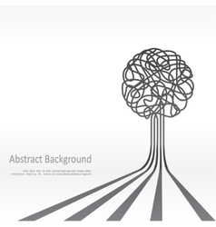Concept of tree background design vector image