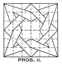 constructing star and box overlap pattern using t vector image