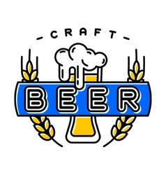 Craft beer bages vector image