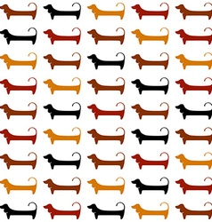 dachshund pattern template vector image