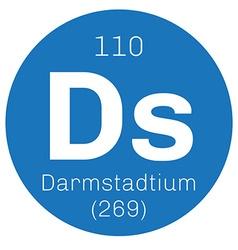 Darmstadtium chemical element vector image