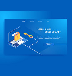 data protection web banner vector image