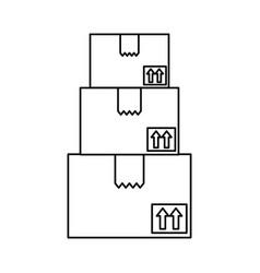 Delivery box cardboard vector