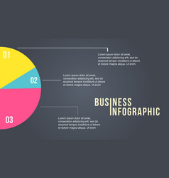 diagram colorful design for business infographic vector image