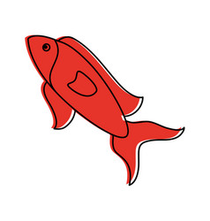 Fish food icon image vector