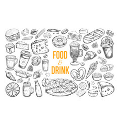 Food and drink big set 3 vector