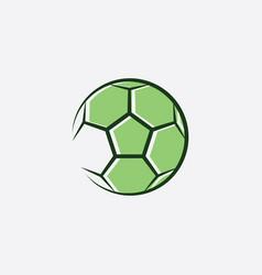 football logo green soccer icon vector image