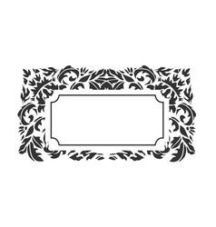frame background victorian damask geometric vector image