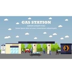 Gas station concept banner Transport vector image