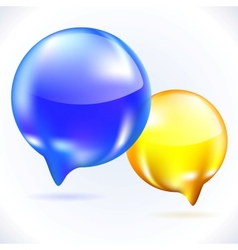 Glass speech bubbles vector