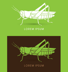 grasshopper side view vector image
