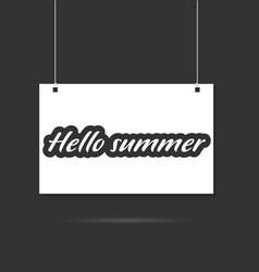 Hallo summer on signboard vector