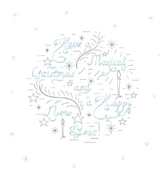 Handdrawn Christmas Card vector image