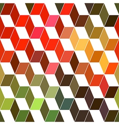 Hipster geometric background made of cubesRetro vector image