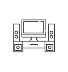 home cinema line icon concept home cinema vector image