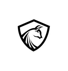 Horse and sheild logo template vector