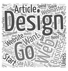 How to find a Website Designer Word Cloud Concept vector