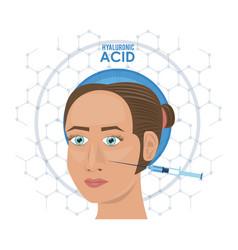 hyaluronic acid filler injection infographic flyer vector image