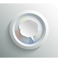 Icon bubble vector