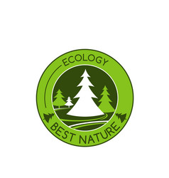 Icon of green nature tree ecology vector