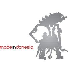 Indonesia silhouette vector