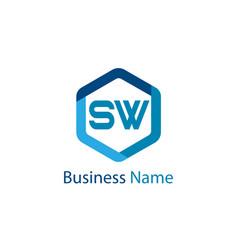 Initial letter sw logo template design vector
