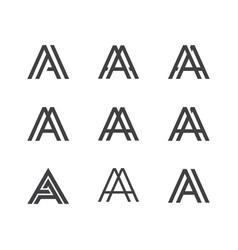 Letter a logo lettermark monogram set collection vector