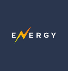 Letter n energy logo icon design template elements vector