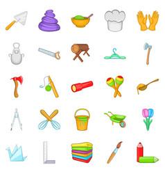 Make icons set cartoon style vector