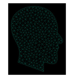 Mesh gentleman profile in polygonal network vector