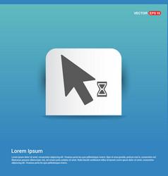 Mousecursor loading icon - blue sticker button vector