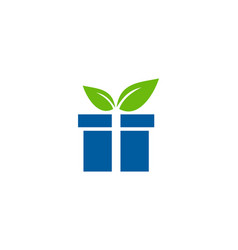 nature gift logo icon design vector image