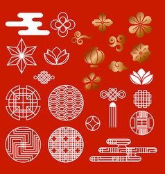 oriental asian traditional korean japanese chinese vector image