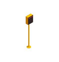 Parking payment station vector
