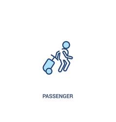 Passenger concept 2 colored icon simple line vector