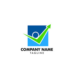 people check logo template design vector image
