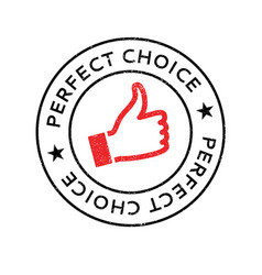 perfect choice rubber stamp vector image