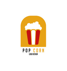 Pop corn logo design modern design vector