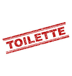 Scratched textured toilette stamp seal vector